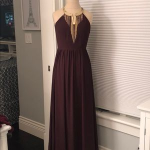 NWT H & M Maroon Gown